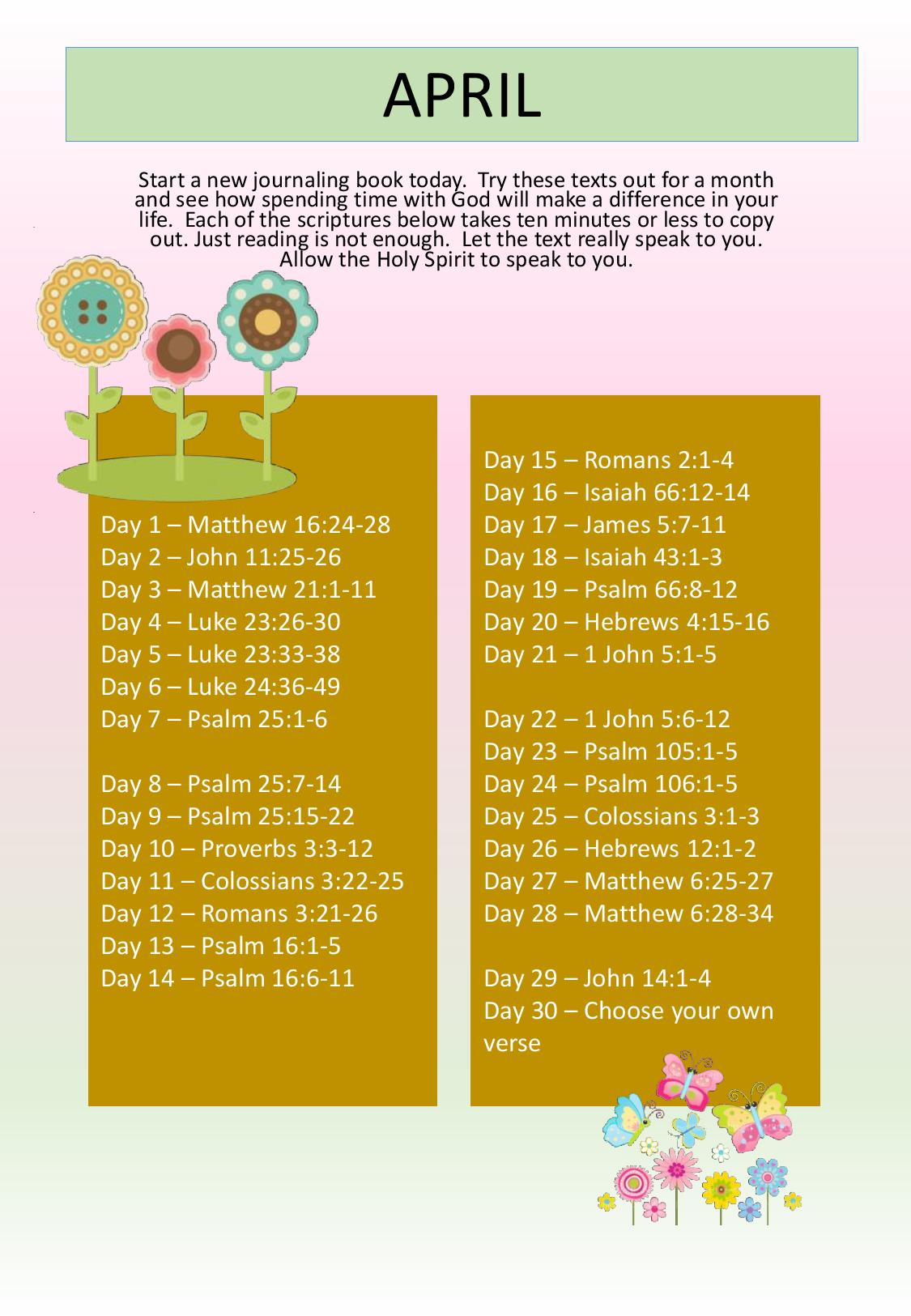 WM Monthly Bible Study 2018 04 April
