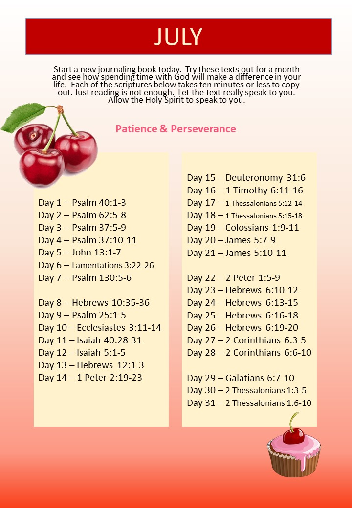 WM Monthly Bible Study 2018 07 July