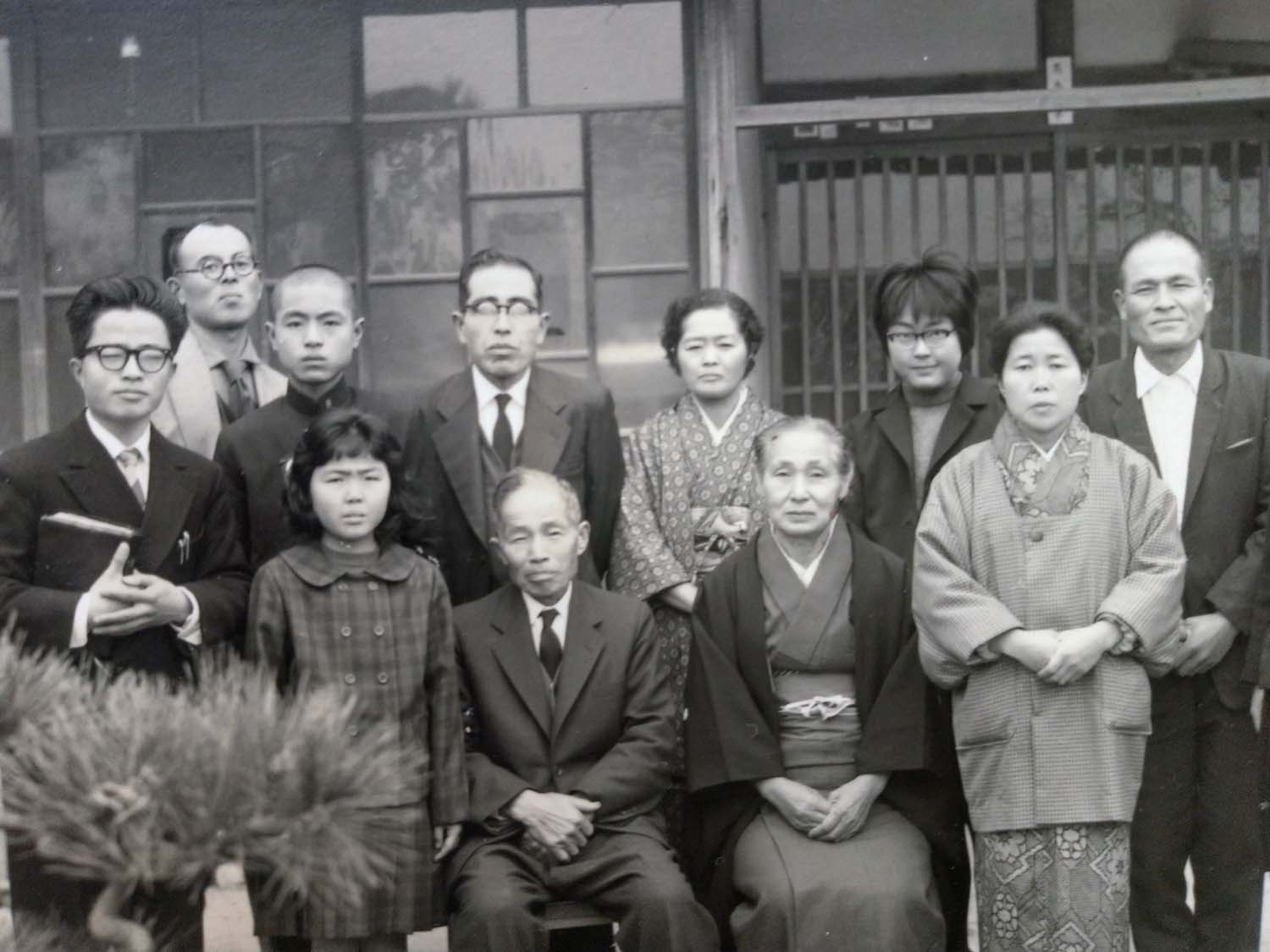 Akeri Parents on far right with Church Members