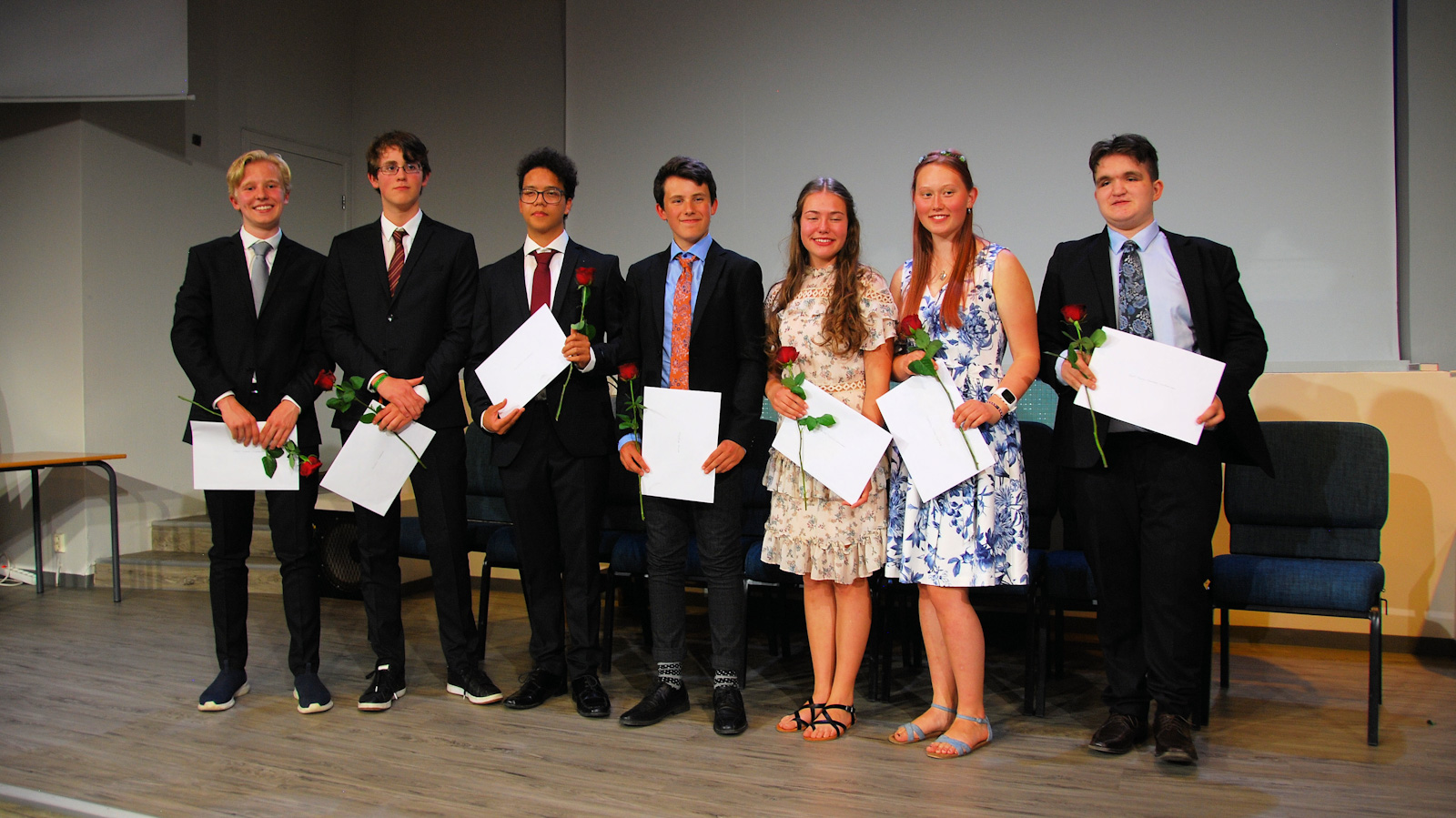 A group of awarded students at Tyrifjord school edited1600
