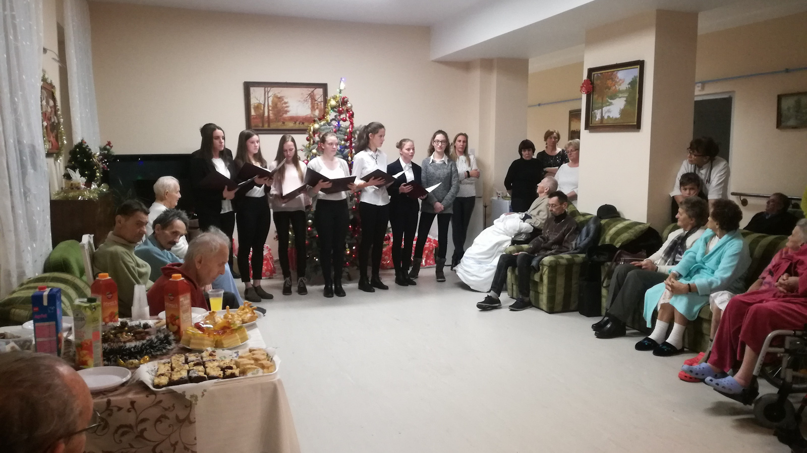 Christmas programme at a hospice in Hungary.