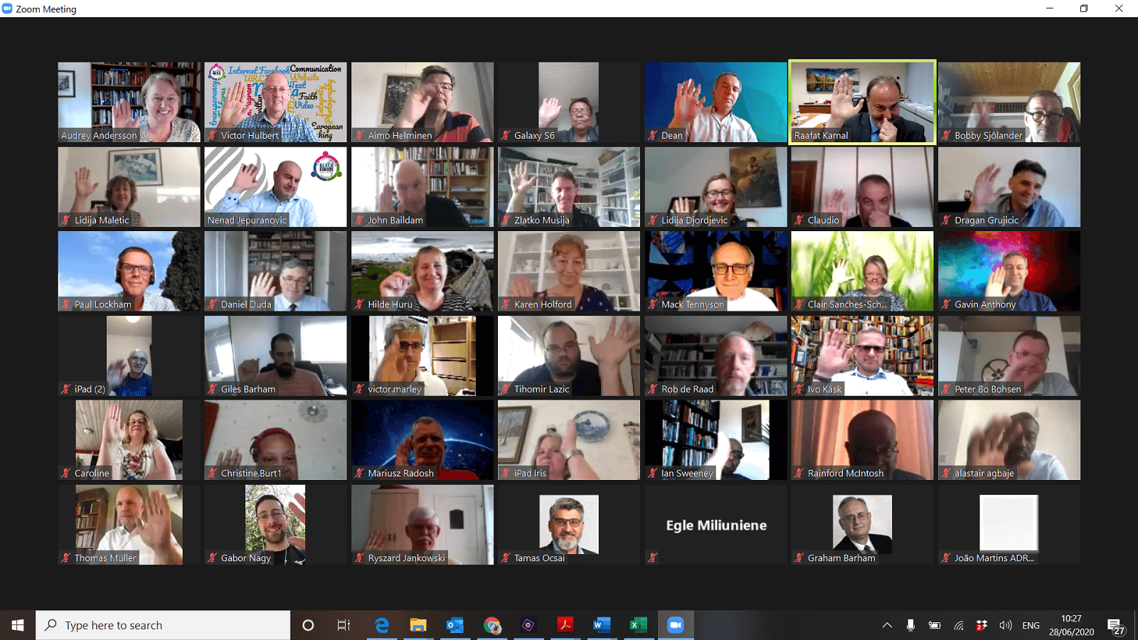 Executive Committee 2020 zoom meeting