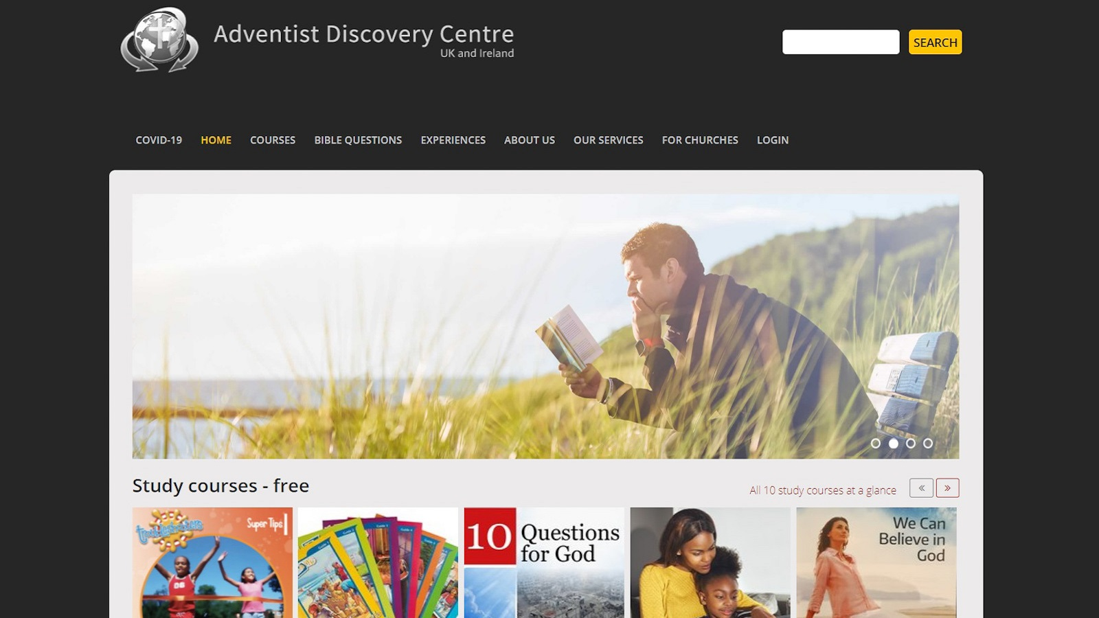 Adventist Discovery Centre website