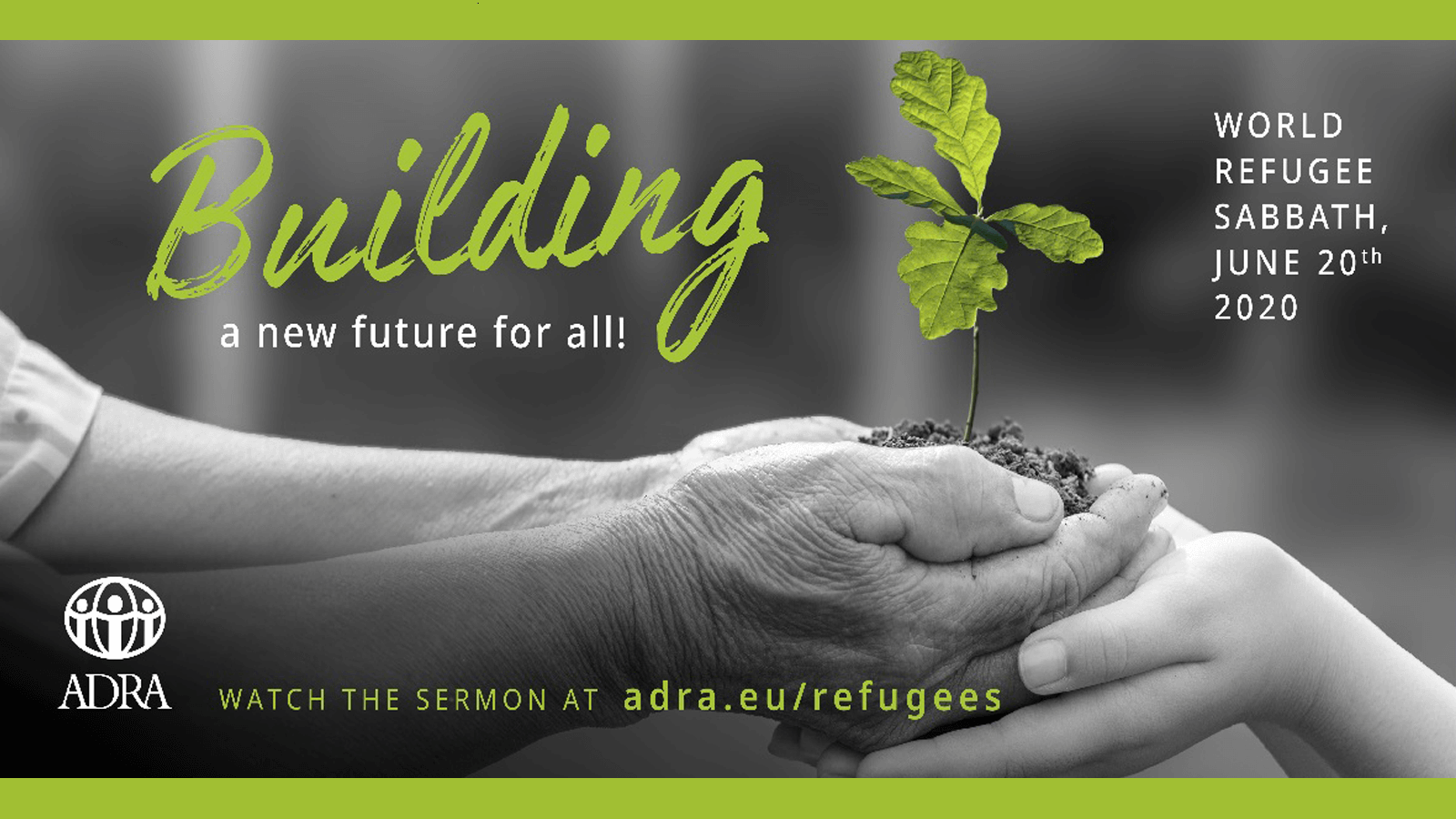 building a future together - ADRA poster