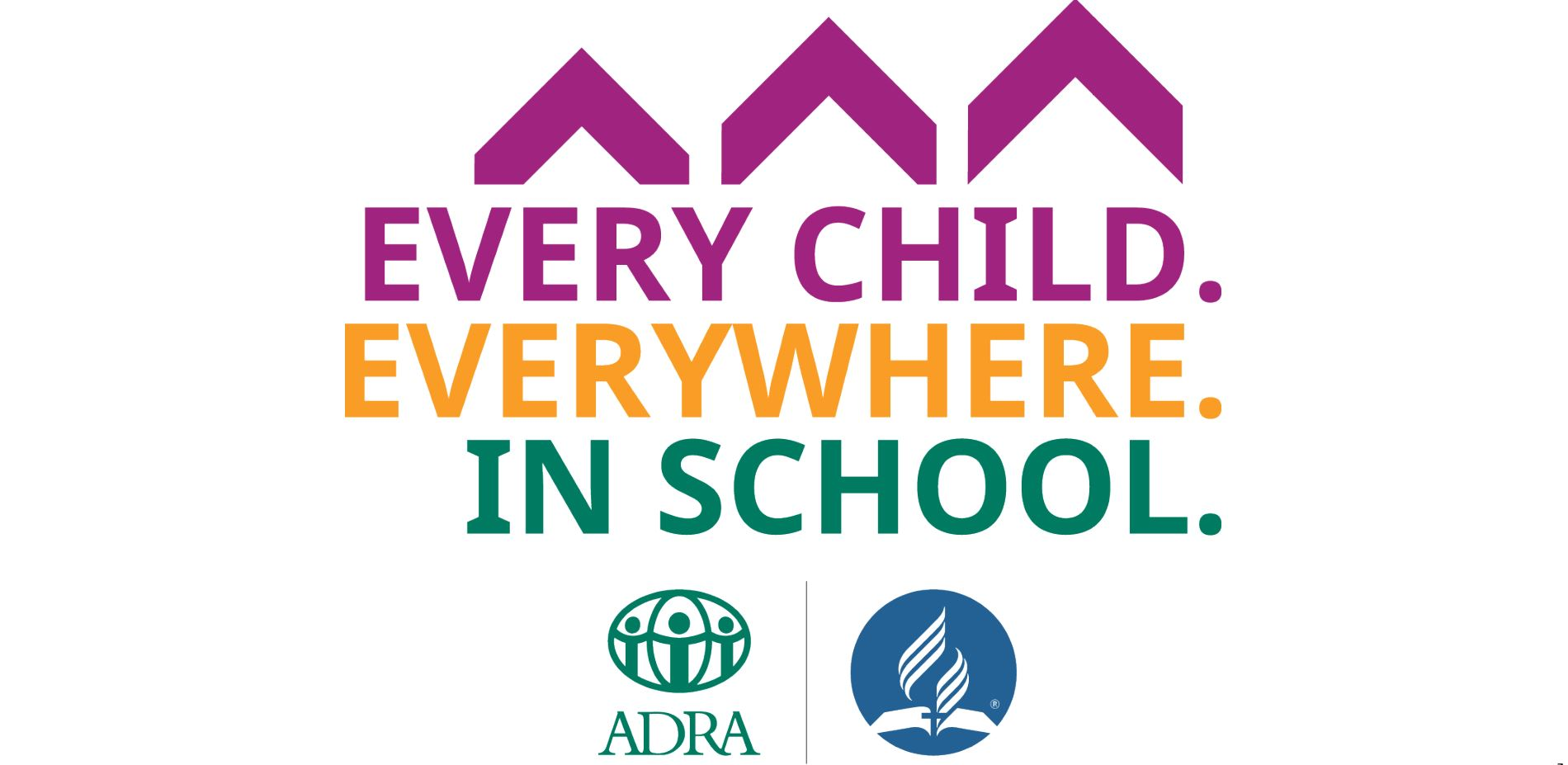 Every Child. Everywhere. In school. logo