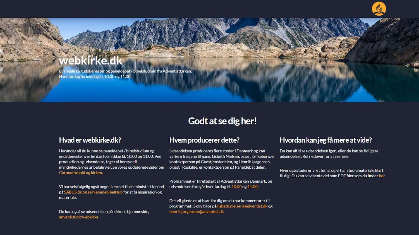 webkirke website