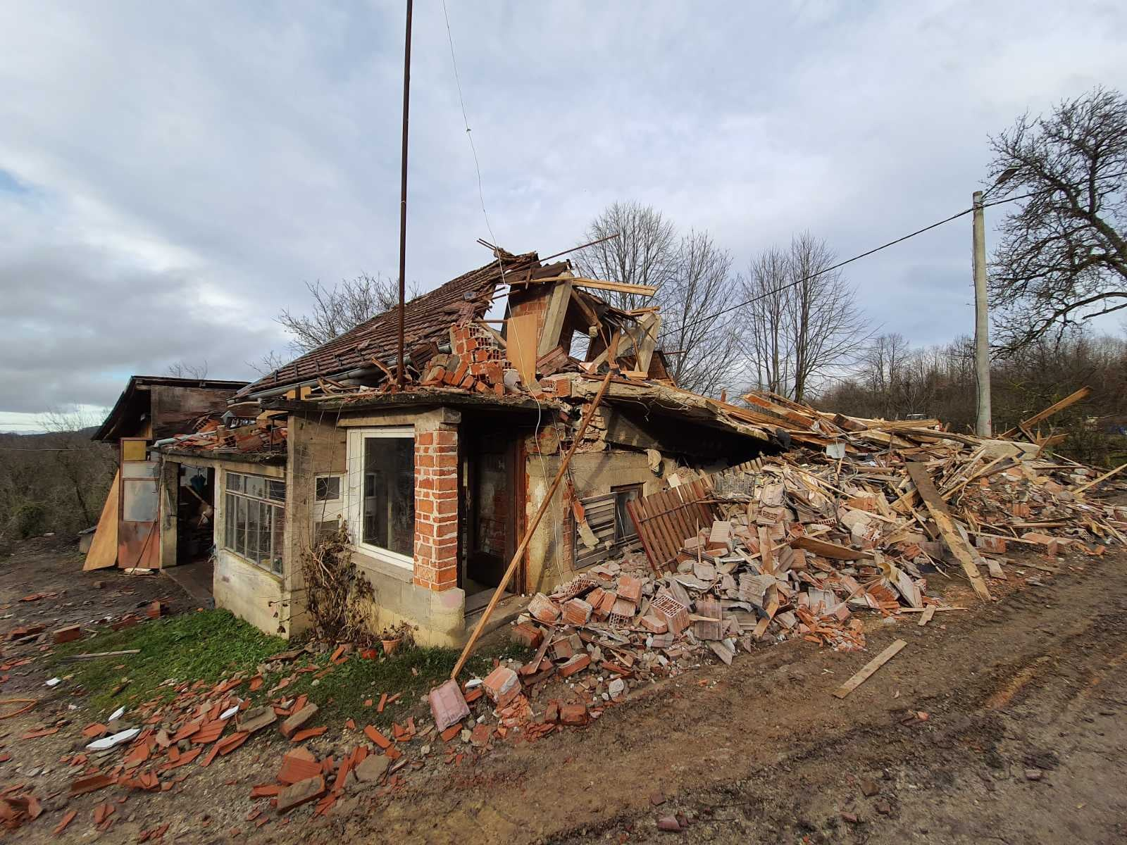 A house in Croatia destroyed in earthquakes