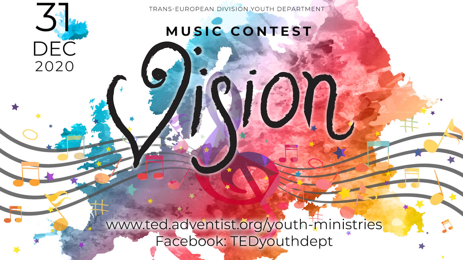 Poster for Music Contest 'Vision'